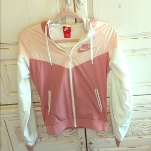 Pink Nike windbreaker jacket